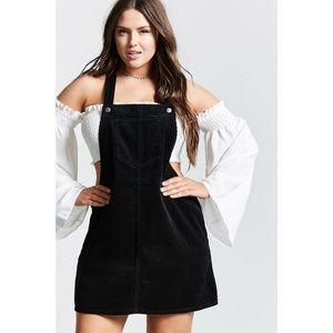 Forever 21 Plus | Black Corduroy Skirt Overall 1X